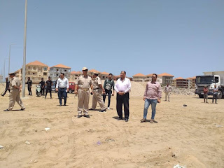 """""""حمدي""""يقود حملة مكبرة لإزالة التعديات علي الامتداد العمراني برأس البر."""