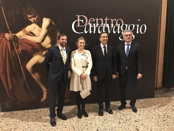 Hereditary Grand Duke Guillaume and Hereditary Grand Duchess Stéphanie visited Milano, Italy