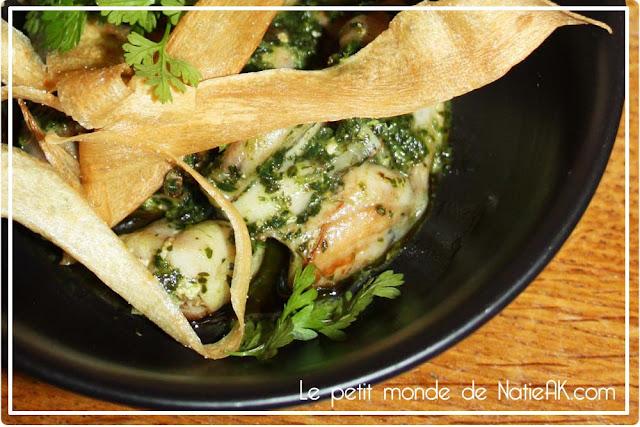 cuisses de grenouille en persillade beurre aillé