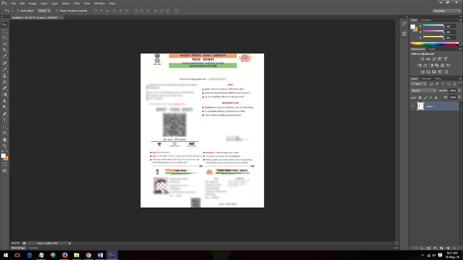 How To Open Aadhar Card Pdf File