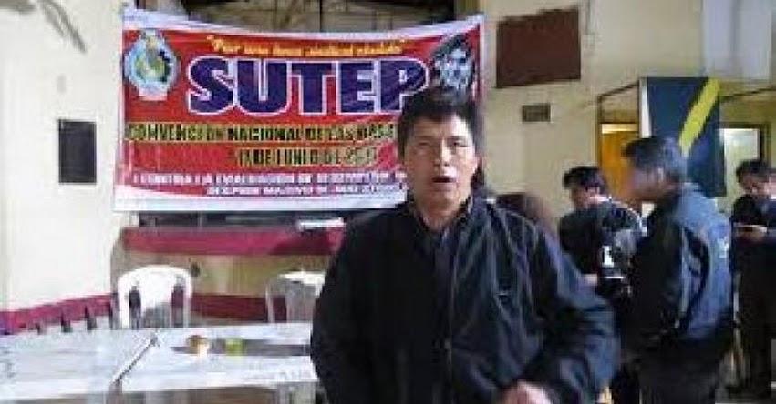 PEDRO CASTILLO : Dirigente propone derogar Ley de Reforma Magisterial y busca formalizar Federación Nacional de Trabajadores del Perú