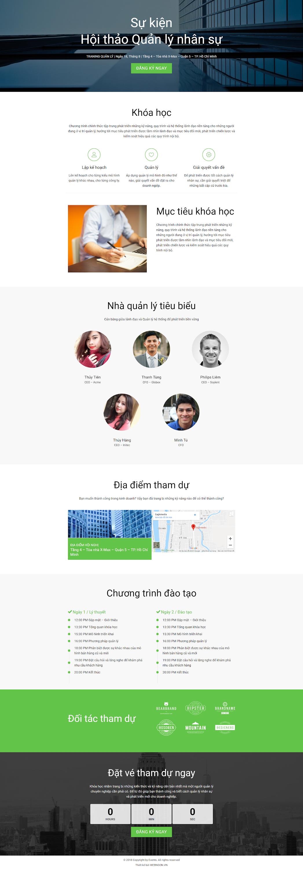 mẫu website landingpage hội thảo wn021