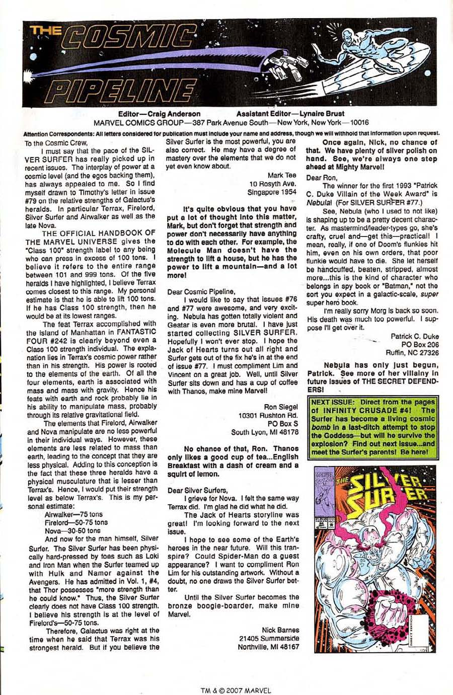 Read online Silver Surfer (1987) comic -  Issue #83 - 33