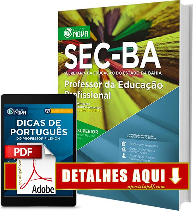 Apostila SEC BA 2017 Professor da Educação Profissional Impressa