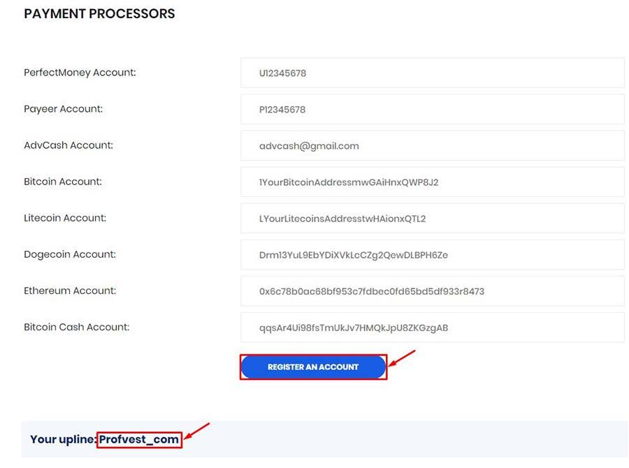 Регистрация в CryptoEmbassy 3