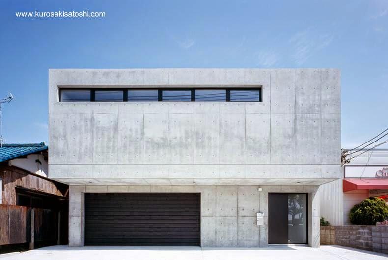Casa residencial urbana contemporánea de dos plantas estilo Minimalista