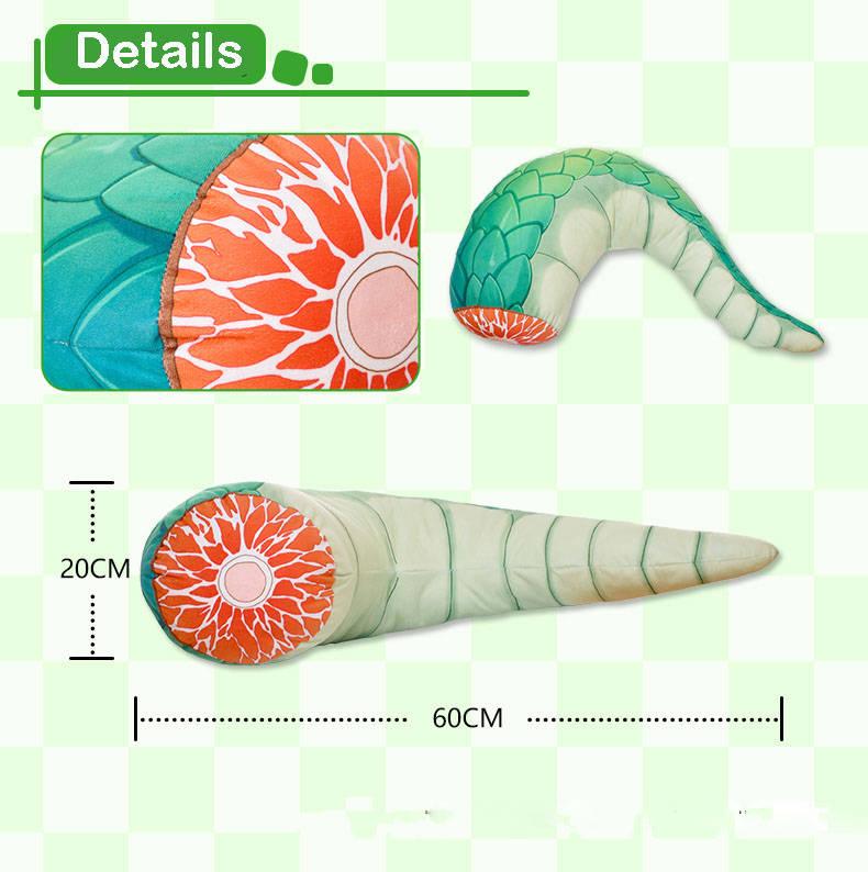 Wymiary pluszowej poduszki - 60x20 cm