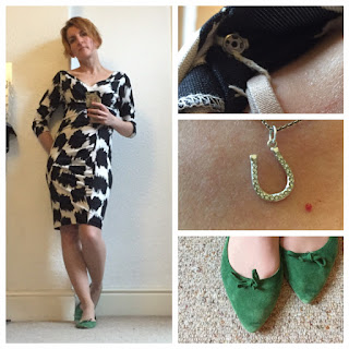 DvF dress and Zara shoes