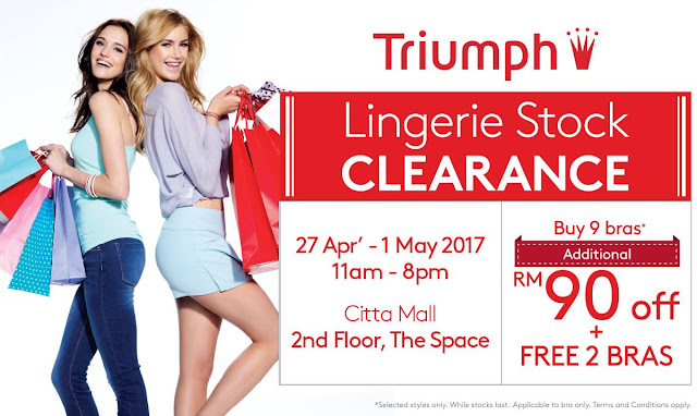 Triumph Lingerie Stock Clearance Warehouse Sale Discount Promo