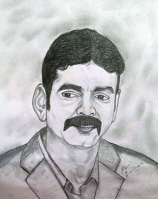 PENCIL DRAWING - Kavi Murasu Praveen