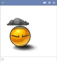 Dark Mood Emoticon