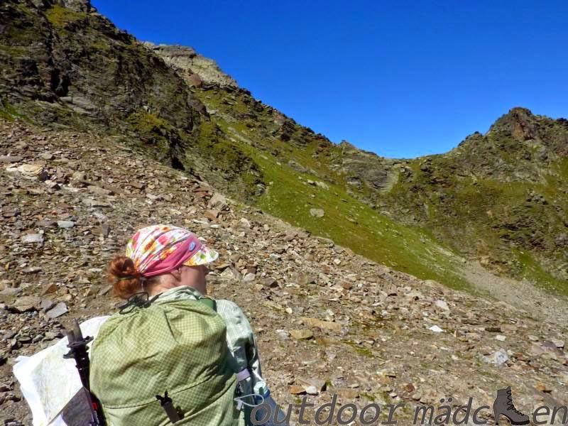 Gewicht Rucksack Alpen-Überquerung