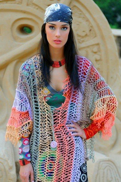 Crochet Horquilla Tunica Arco Iris