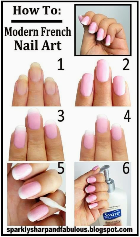 Modern Nails Posts: How To: Modern French Nails