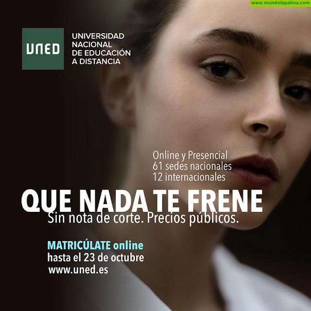 Los estudiantes palmeros de la UNED tienen hasta el 23 de octubre para formalizar su matrícula en los títulos oficiales y grados