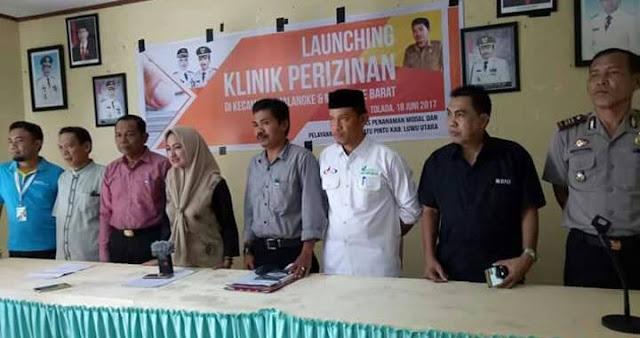 Bupati Indah Launching Klinik DPMPTSP di Malangke dan Malbar