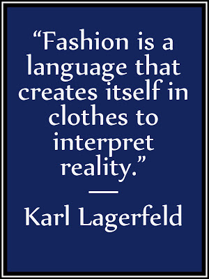 Quote on Fashion by Karl Lagerfeld, She Wanders She Finds.com