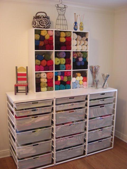 Yarn Closet Storage Organization Ideas