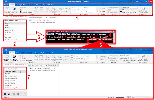 Microsoft Outlook: Cambiar el idioma de las carpetas especiales (Bandejas) - Archivo PST.
