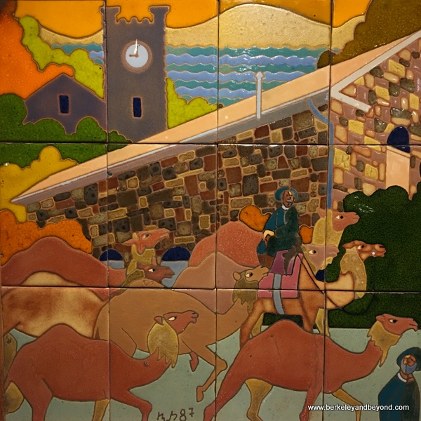 ceramic tile camel mural at Benicia Historical Museum at the Camel Barns in Benicia, California