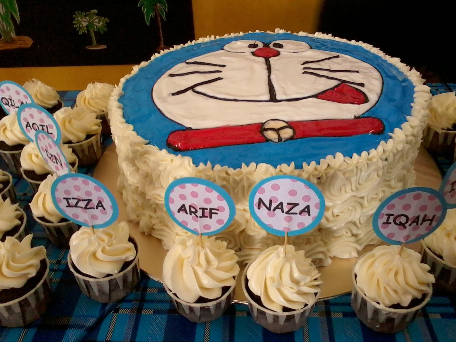 Jujucupcakes Doraemon Cake For Kg Paya Dalam Kindergarten