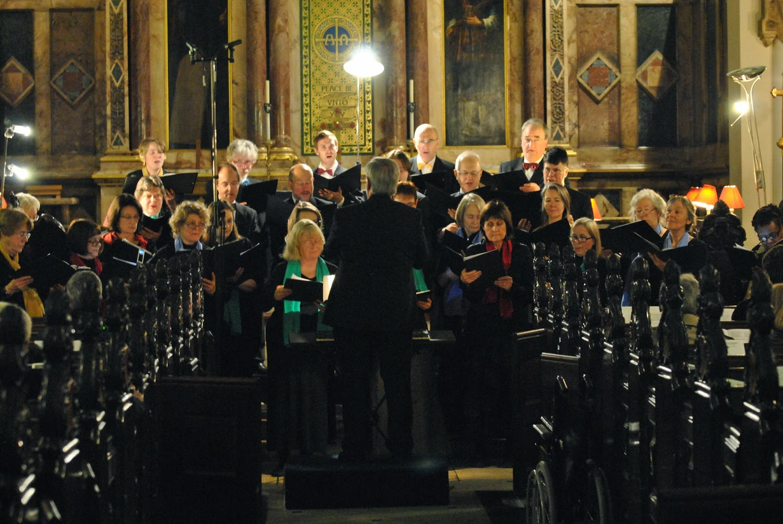 London Concord Singers and Malcolm Cottle in 2012, photo credit Josh Hayes
