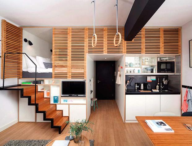 Esta Selección De Escaleras Para Espacios Pequeños Reúne Los Puntos  Deseables Para Apartamentos Tipo Loft Y Minipisos: