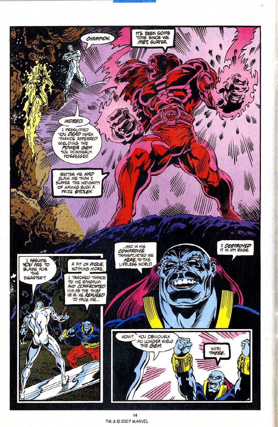 Read online Silver Surfer (1987) comic -  Issue #98 - 16