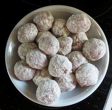 Greek keftedes, floured and ready for the pan.