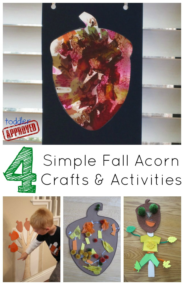 toddler fall crafts toddler approved fall acorn math sticky wall 3120