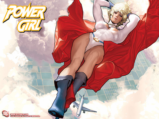 Comic Cover of Power Girl by Geoff Johns