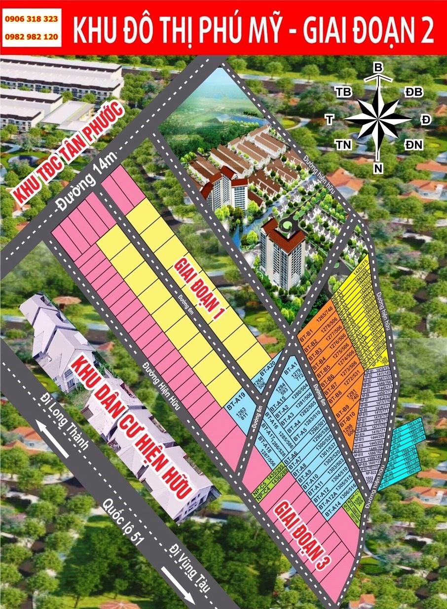 Sơ đồ phân lô khu đô thị Phú Mỹ