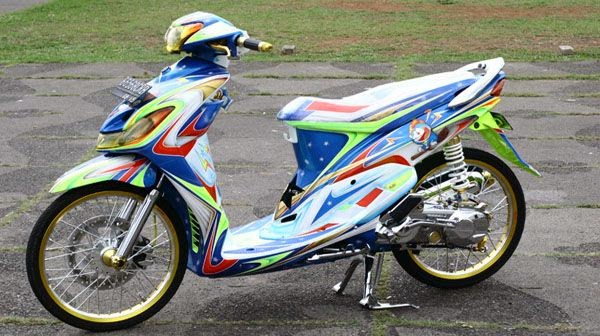 Modifikasi Motor Airbrush Mio 2014