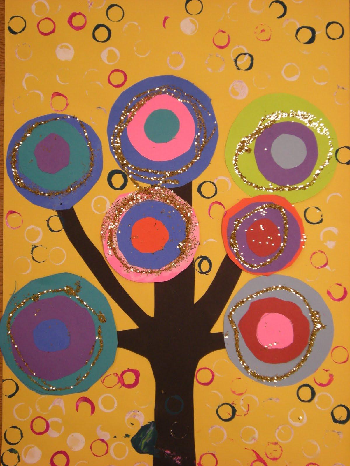 What S Happening In The Art Room Kandinsky Trees 1st Grade