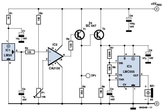 Temperature Controlled Leds Electronic Circuits And Diagram