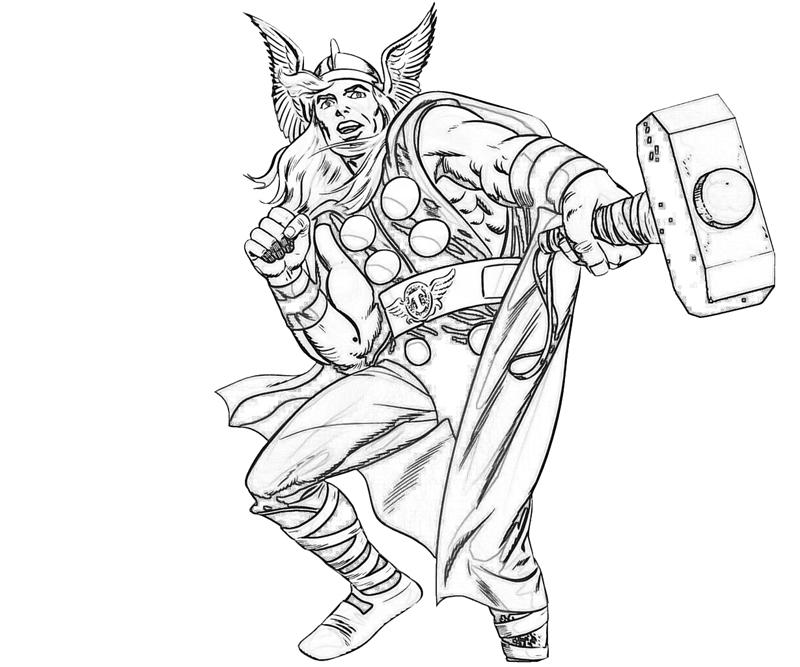 printable thors hammer coloring pages - photo#9