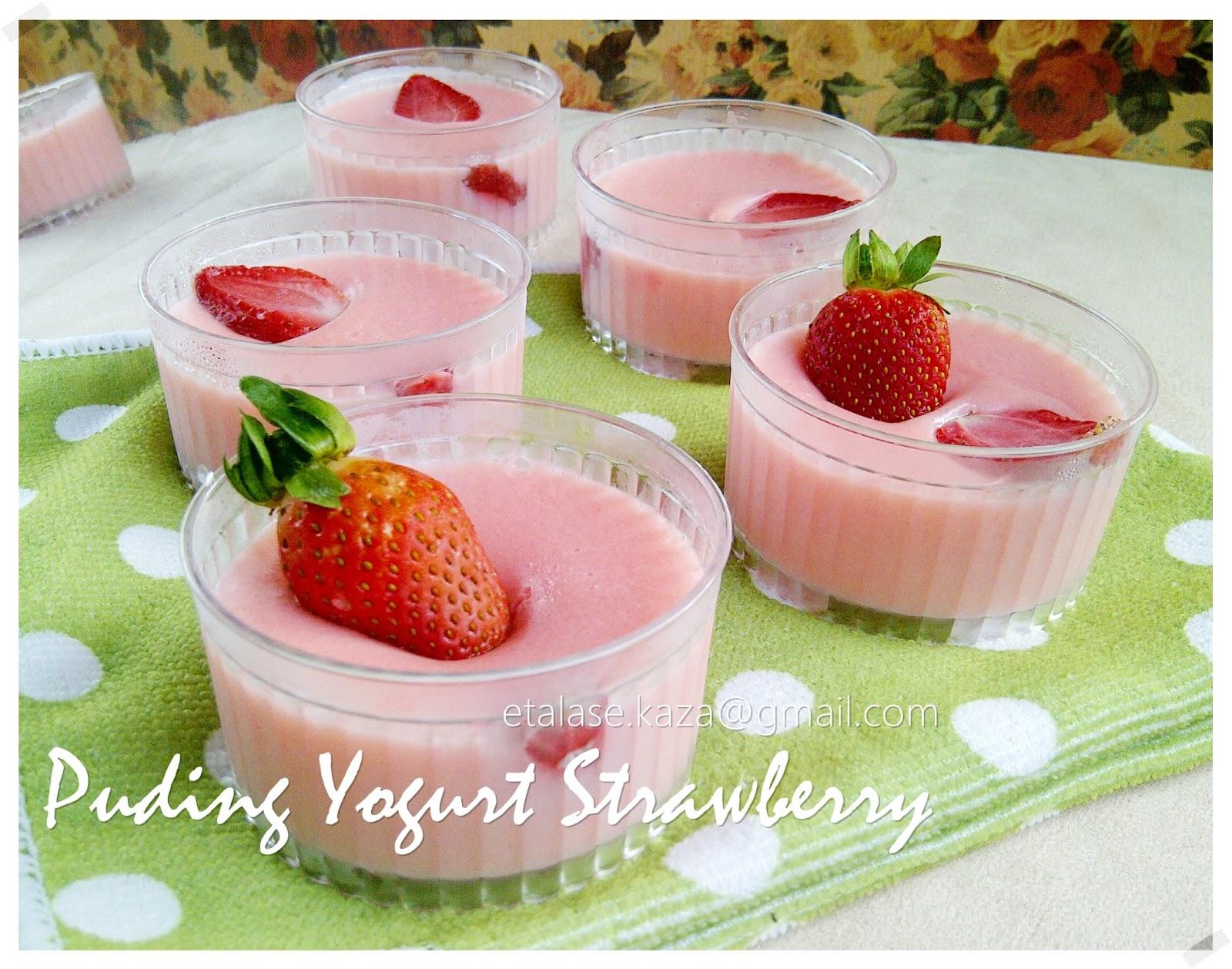 Etalase KAZA Puding Yogurt Strawberry
