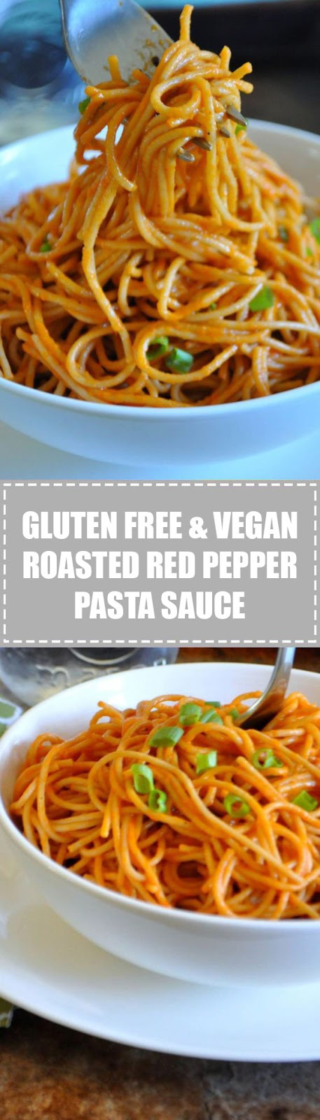 Gluten Free & Vegan Roasted Red Pepper Pasta Sauce