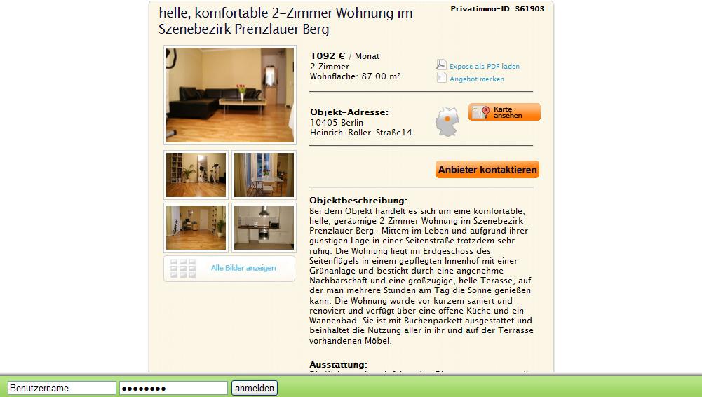 Zimmer Wohnung Berlin Mieten