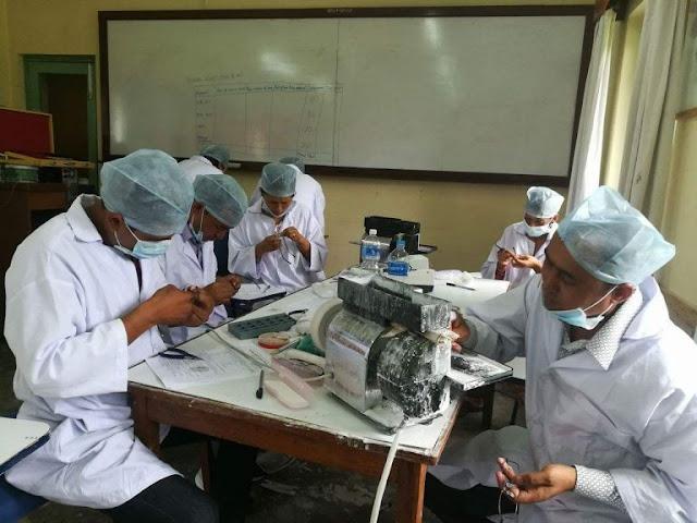Optical dispensing training in Nepal