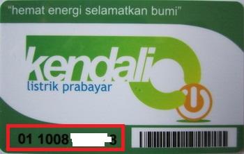 kartu pulsa listrik prabayar