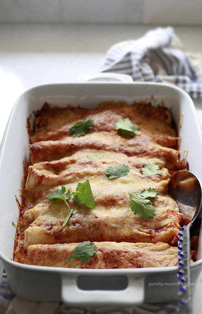 Quinoa Veggie Enchiladas