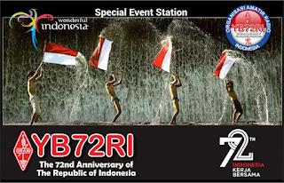 ติดต่อสถานี YB72RI แสดงความยินดีกับสาธารณรัฐอินโดนีเซีย