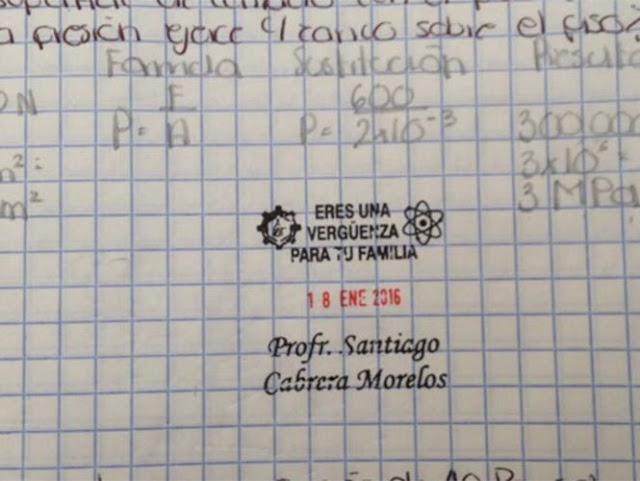Prof. Santiago Cabrera Morelos:'Eres una vergüenza para tu familia'
