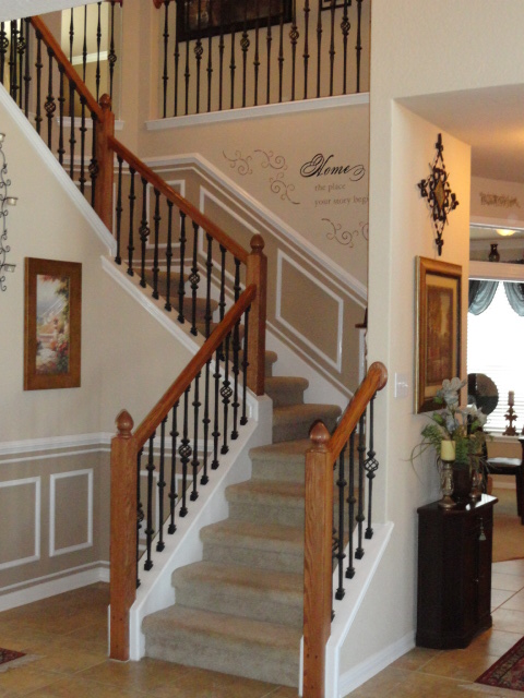 Our Home Away From Home: DIY STAIRWELL MOLDING