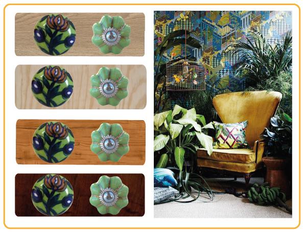 bouton de meuble plant greenery boheme