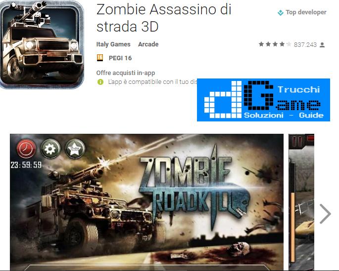 Trucchi Zombie road kill Mod Apk Android v1.0.6