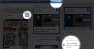 Cara hapus semua status facebook