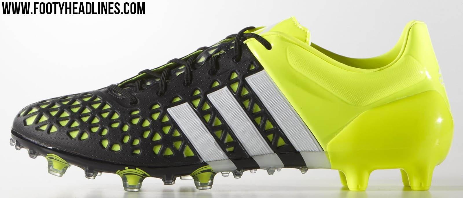 85e2e93ce2ab Adidas Ace 15.1 FG   AG Black   Silver Metallic   Solar Yellow. This is the  new ...