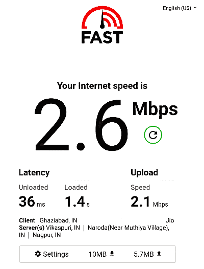 Internet Speed Test By Fast.com